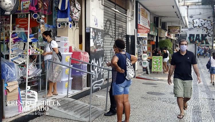Perda comércio do Rio é de 80%