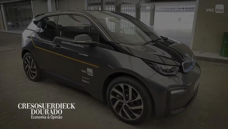 Aluguel de carros elétricos pelo Itaú